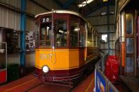 Glasgow Corporation tram 1017, originally Paisley & District double decker No. 17, cut down to work the Duntocher service (low bridge) and latterly driver training car. The tram is on display at Summerlee Heritage Museum, Coatbridge. <br> <br><br>[Colin Miller&nbsp;21/08/2012]