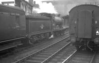 The 12.25 from Hawick runs into Carlisle on 1 July 1961 behind Hawick shed's D34 4-4-0 no 62484 <I>Glen Lyon</I>.<br><br>[K A Gray&nbsp;01/07/1961]
