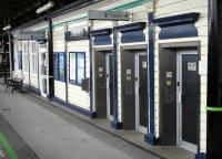 Unusual but extensive unisex toilet facilities on Lichfield City station westbound platform with train type push button operation and locking system. A disabled toilet is also provided in the waiting room further along the building<br><br>[David Pesterfield&nbsp;31/07/2012]
