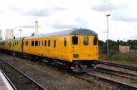 Network Rail DBSO 9701 stands in the sidings at Didcot on 23 August 2012.<br><br>[Peter Todd 23/08/2012]