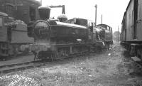 GWR 5700 class 0-6-0PT no 3709 photographed on Truro shed in August 1960.  <br><br>[K A Gray&nbsp;10/08/1960]