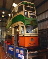 Lurking at the rear of the tram shed at Summerlee in August 2012 is ex-Glasgow Corporation 'Coronation' tram no 1245, built in 1939 and withdrawn on 19 June 1962. [See image 38853]<br><br>[Colin Miller&nbsp;21/08/2012]