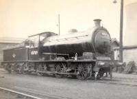 J27 0-6-0 no 65789 seen on Darlington Shed on 5 April 1964 looking pristine. It had only recently arrived on shed following despatch from the nearby North Road Works after a general overhaul undertaken over the preceding two months. <br><br>[David Pesterfield&nbsp;05/04/1964]