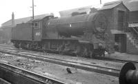 Gresley J38 0-6-0 no 65929 photographed on St Margarets shed in February 1962.<br><br>[K A Gray&nbsp;03/02/1962]