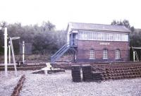 A September 1987 view of Newtown signal box.<br><br>[Ian Dinmore&nbsp;/09/1987]