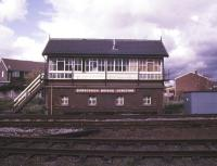 View of Burscough Bridge Junction signal box in May 1986.<br><br>[Ian Dinmore&nbsp;/05/1986]