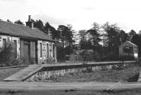 Looking east at Carron on 18 April 1977 over the remains of the level crossing.<br> <br><br>[John McIntyre&nbsp;18/04/1977]