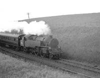 Scene on the Largs branch near West Kilbride in 1962 featuring Corkerhill shed's Standard Class 4 2-6-4T no 80045.<br><br>[R Sillitto/A Renfrew Collection (Courtesy Bruce McCartney)&nbsp;//1962]