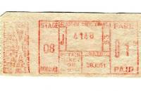 Tickets and labels 30/06/1951