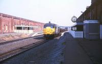 A class 31 hauled freight runs south through Stockton on Tees on 16 May 1990.<br><br>[Ian Dinmore&nbsp;16/05/1990]