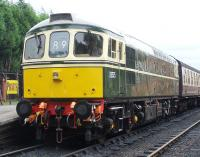 An immaculate looking D6575 with a train at Bishops Lydeard on 2 September 2012. <br><br>[Colin Alexander 02/09/2012]