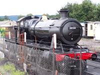 GWR Collett 2-8-0 No 3850 at Bishops Lydeard on 2 September 2012.<br><br>[Colin Alexander 02/09/2012]