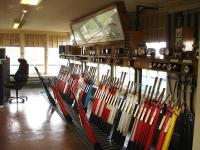 The operational two thirds of the Barry signal box in September 2012, with levers to No 65 in regular use. Some further levers, ending at No 75, are just out of shot. The remainder of the operating floor is now fitted out as a large kitchen area.      <br><br>[David Pesterfield&nbsp;12/09/2012]