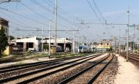 The locomotive and EMU Depot adjacent to Treviso Station, NE Italy, in September 2012.<br><br>[Brian Taylor&nbsp;11/09/2012]