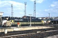 Brush Type 4 no 1995 waits for the mailbags to be loaded before heading west from Bristol Temple Meads on a fine and sunny 30 July 1971.<br><br>[John McIntyre&nbsp;30/07/1971]