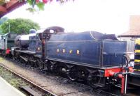 Ex-Somerset & Dorset 2-8-0 no 88 in the sidings at Minehead on 2 September 2012.<br><br>[Colin Alexander&nbsp;02/09/2012]