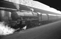 Holbeck 'Jubilee' no 45608 <I>Gibraltar</I> with a train at Bradford Forster Square in May 1962.<br><br>[K A Gray&nbsp;05/05/1962]