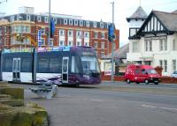 Blackpool Tram no 010 at Cabin in September 2012.<br><br>[Veronica Clibbery&nbsp;/09/2012]