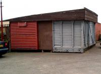 The origins of the Tri-Rail shop building at the Chasewater Railway are all too clear. I tried to buy such a van body in 1985, the going rate was then �250. I believe that BR Disposals have now run out, and that the acceptable substitute is a 20 foot ISO freight container!<br><br>[Ken Strachan&nbsp;16/09/2012]