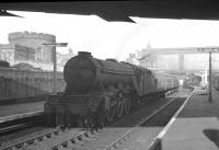 Canal shed's A3 Pacific no 60079 <I>Bayardo</I> gets ready to leave Carlisle platform 8 with what is thought to be the 1.28pm to Edinburgh via Hawick in the Summer of 1960<br><br>[K A Gray&nbsp;//1960]