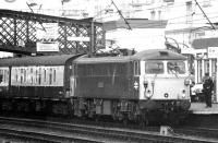 87032 <I>'Kenilworth'</I> brings a Glasgow - Manchester train into Carlisle in the summer of 1977.<br><br>[John Furnevel&nbsp;15/08/1977]