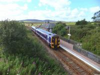 The owner of the station house at Scotscalder had just enough time to rescue her washing from the track before the train for Thurso arrived on 30 August, a day of good visibility and a north westerly wind.<br><br>[John Robin&nbsp;30/08/2012]