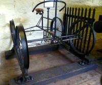 <I>'On yer bike...'</I>  A former engineer's inspection vehicle from Dinorwig slate quarries on display at Penrhyn Castle Railway Museum in September 2012.<br><br>[Bruce McCartney&nbsp;/09/2012]