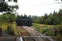The new locomotive shed at Dufftown in September 2012.<br><br>[Peter Todd&nbsp;18/09/2012]
