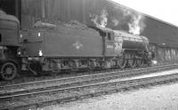Gresley V2 2-6-2 no 60886 photographed on Gateshead shed in the 1960s. The locomotive spent its last years at York, from where it was eventually withdrawn by BR in April 1966.<br><br>[K A Gray&nbsp;//]