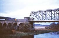 40114 about to cross the Spey Viaduct at Orton with an afternoon service in November 1978 heading for Aberdeen.<br><br>[Peter Todd&nbsp;18/11/1978]