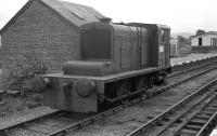 Hudswell-Clarke 0-4-0 DM shunter (works number D613 of 1939) at Boat of Garten on 15 June 1974. Although it had latterly had been owned by Inveresk Paper, it still had the number plate on the cabsides from the first owners, the Air Ministry, and these displayed 'AM No 147'.<br><br>[John McIntyre&nbsp;15/06/1974]