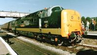 Deltic 55002 <I>The Kings Own Yorkshire Light Infantry</I> with a train at Ramsbottom in 1997.<br><br>[Colin Alexander&nbsp;//1997]