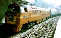 D1015 <I>Western Champion</I> prepares to leave Paddington on 17 August 2002 with the 'Western Noon' railtour to Birmingham and Worcester.<br><br>[Colin Alexander&nbsp;17/08/2002]