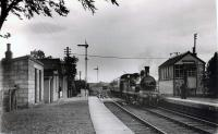 GNSR 49 entering Rothienorman from the north with the RCTS/SLS Joint Scottish Tour on 13 June 1960.<br><br>[WA Camwell (Copyright Stephenson Locomotive Society)&nbsp;13/06/1960]