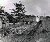 The RCTS/SLS Joint Scottish Tour approaches Redcastle from the east in June 1960. This station still stands in a good state of preservation.<br><br>[WA Camwell (Copyright Stephenson Locomotive Society)&nbsp;14/06/1960]