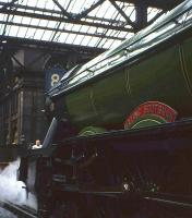 <I>'Flying Scotsman'</I> stands at Waverley's Platform 8 on 9th May 1964, having arrived with the <I>Pegler's Pullman</I> special from Doncaster [see image 25500].<br><br>[Frank Spaven Collection (Courtesy David Spaven)&nbsp;09/05/1964]