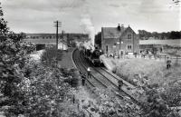 54485 pausing westbound at Madderty with the 1960 RCTS/SLS Joint Scottish Tour.<br><br>[WA Camwell (Copyright Stephenson Locomotive Society)&nbsp;15/06/1960]