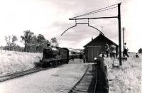 NBR256 westbound at Strathmiglo with the 1960 RCTS/SLS Joint Scottish Tour.<br><br>[WA Camwell (Copyright Stephenson Locomotive Society)&nbsp;17/06/1960]