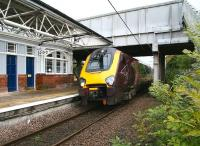 The 10.59 Glasgow Central - Penzance CrossCountry service arrives at Berwick on 12 October 2012. <br><br>[John Furnevel&nbsp;12/10/2012]