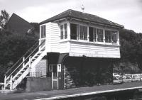 The signal box at Dawlish in April 1988.<br><br>[Ian Dinmore&nbsp;/04/1988]