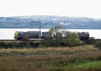 My traditional annual photograph of the 'Leaf Train' on its way back from Helensburgh. Pity about the weather!<br><br>[Beth Crawford&nbsp;18/10/2012]