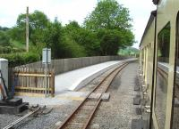 The new westbound platform at Capel Bangor in May 2012, seen from the 10.30 Vale of Rheidol service to Devils Bridge. <br><br>[David Pesterfield&nbsp;30/05/2012]