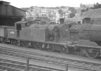 C16 4-4-2T no 67489 on Hawick shed, probably in the late 1950s [see image 30744].<br><br>[K A Gray&nbsp;//]