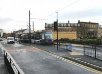The road layout at the Fleetwood Ferry tram terminus has changed significantly recently. 004 waits outside the North Euston Hotel on a wet November day. [See image 36351] for an earlier view of the same spot.<br><br>[Mark Bartlett&nbsp;06/11/2012]