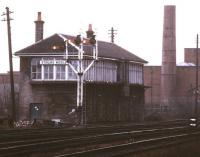 View south from Stirling station towards Stirling Middle signal box in October 1989.<br><br>[Ian Dinmore&nbsp;/10/1989]
