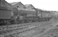 Gresley D49 4-4-0 no 62734 <I>Cumberland</I> standing in the sidings at Darlington shed, thought to be shortly after its withdrawal from Carlisle Canal in March 1961. The locomotive was cut up at the nearby works that same month, some 32 years after being built there. [See image 23689] <br><br>[K A Gray&nbsp;/03/1961]