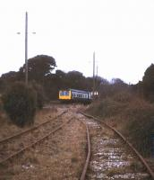Looking back along the disused line serving Falmouth Docks in August 1992.<br><br>[Ian Dinmore&nbsp;/08/1992]