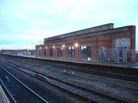 A modicum of progress on the island platform at Wakefield Kirkgate [see image 40104] on 12 November 2012, with new lighting and display screens installed. Subway ramp, roof and window glazing are still to be completed.<br><br>[David Pesterfield&nbsp;12/11/2012]