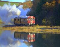 Scene near Terras Crossing between Looe and Sandplace on 18 November 2012, with restored GWR Steam Railmotor no 93 in action [see image 34137].<br><br>[Ian Dinmore&nbsp;18/11/2012]