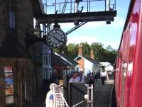 An afternoon train from Pickering arriving at Grosmont on 4 September 2012.<br><br>[John Steven&nbsp;04/09/2012]